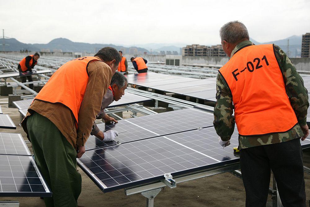 Moderne Solarmodule
